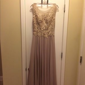 Taupe and Blush Formal Dress